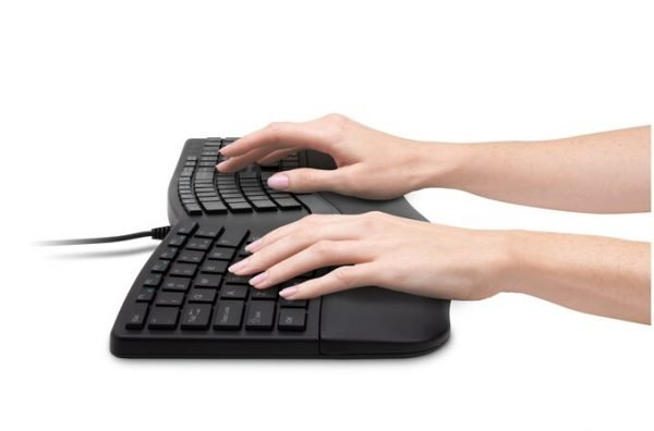 Kensington Pro Fit Ergo Keyboard Side Hands