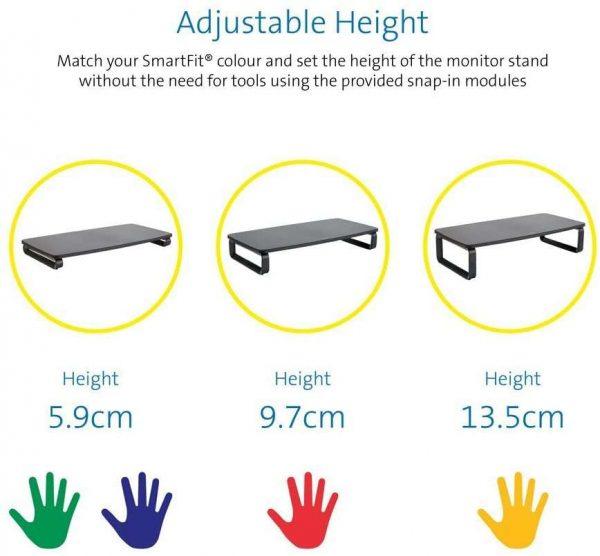 Kensington Smart Fit Monitor Stand adjust